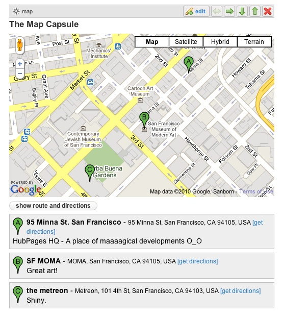 The Map Capsule