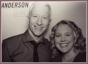Julie DeNeen and Anderson Cooper
